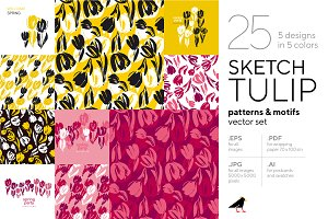 Sketch Tulip Graphic Collection