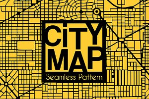 Abstract seamless city plan