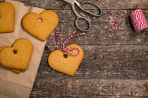 Valentines Day Heart Shaped Cookies