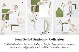 Fern Styled Stationery Mockup