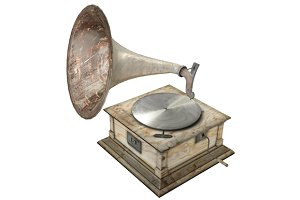 Old Gramophone - 3D Model