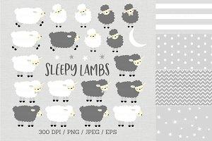 Sleepy Lamb Clipart