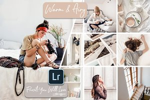Warm & Airy Lightroom Presets