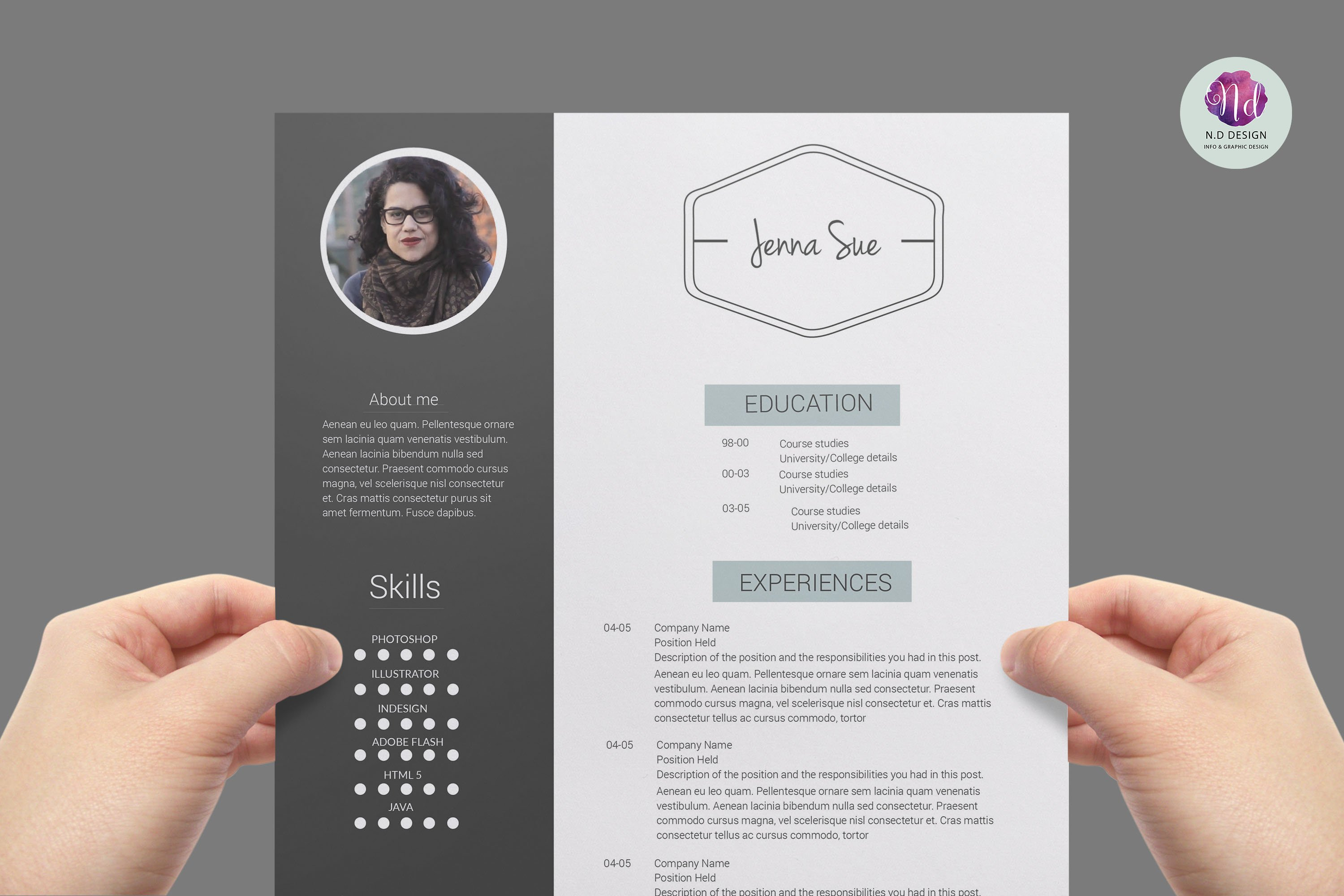 modern resume template resume templates creative market - Modern Resume Formats