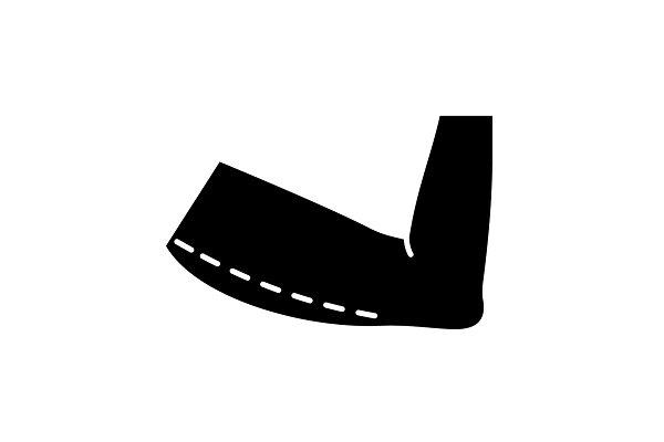 Arm lift surgery glyph icon