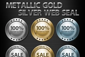 Metallic Gold Silver Web Seal