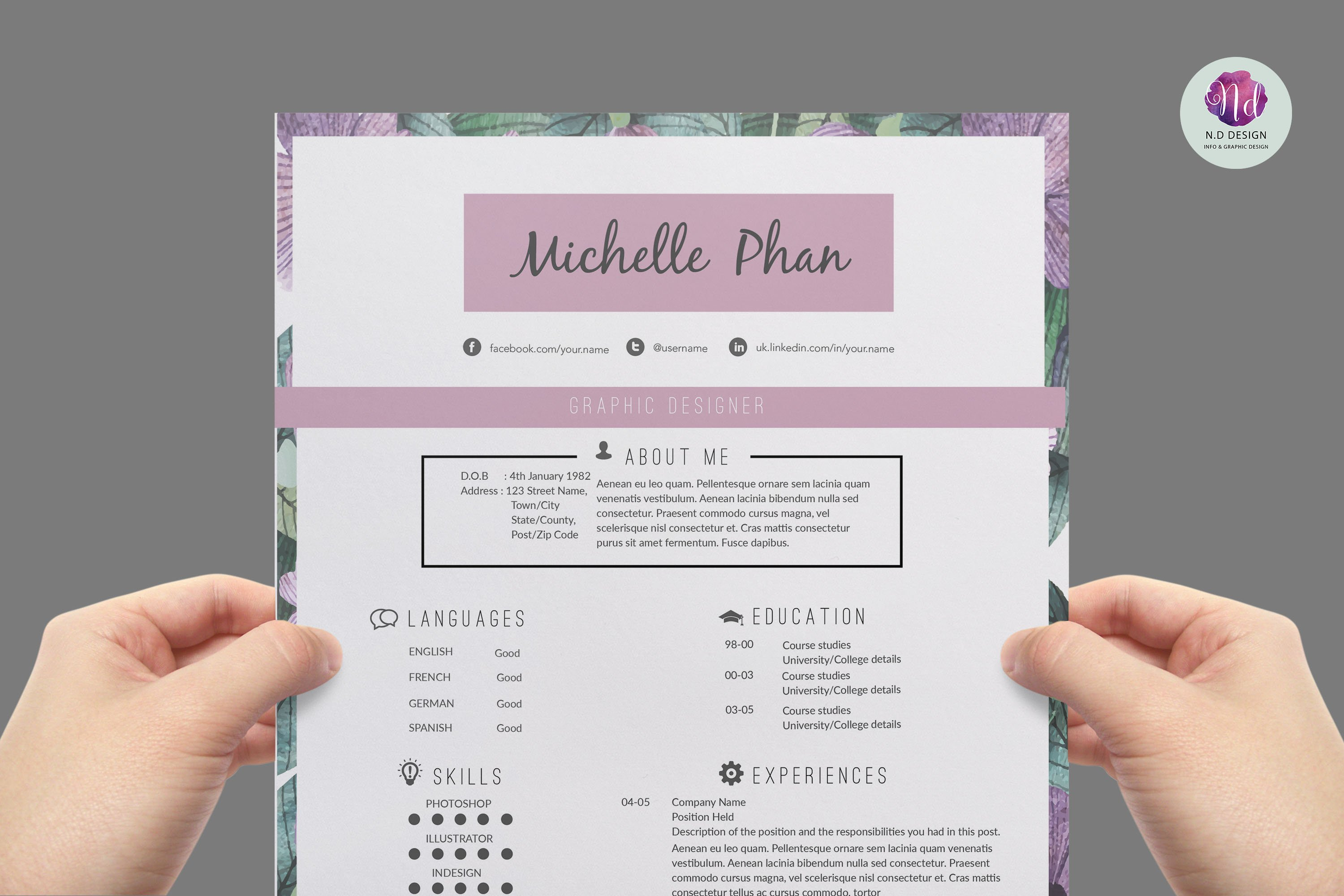 2015 cv design photos graphics fonts themes templates modern resume template