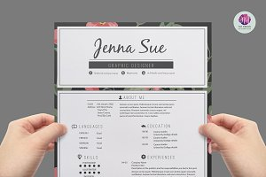 Hipster Resume, CV Template Pkg. ~ Resume Templates on ...