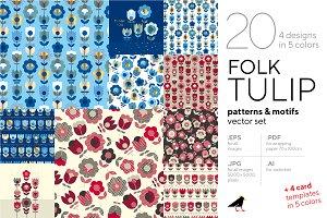 Folk Tulip Graphic Collection