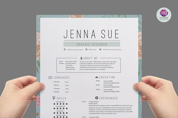 modern resume template resume templates creative market - Modern Resumes Templates