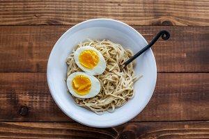 Ramen noodle with eggs