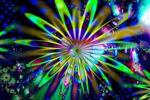 psychedelic fractal flower