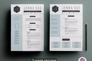 2 Page Resume Template Creative Illustrator Templates Creative
