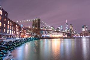 Dumbo view at night