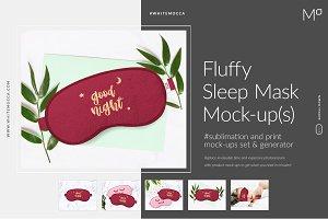 Fluffy Sleep Mask Mock-ups&Generator