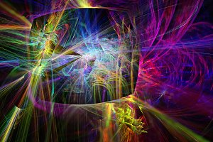Neon Light, fractal illustration