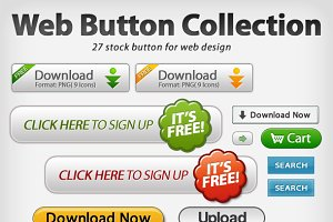 Web button(27 collection)