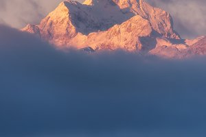 Winter morning in the Julian Alps mo