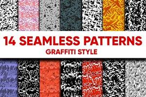 14 GRAFFITI SEAMLESS PATTERNS