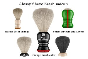 Glossy shaving brush