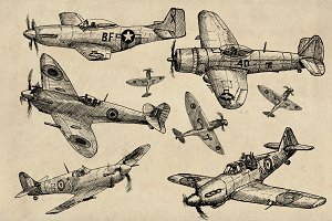 WW2 Allied Fighter Plane Aircraft