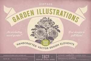100 Vintage Garden Illustrations