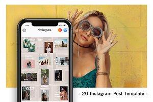 20 Instagram Post Template