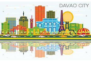 Davao City Philippines Skyline