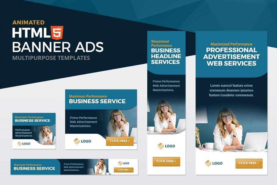 HTML5 Multipurpose Ad Banners