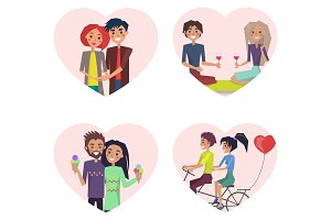Couples in Love Happiness Vector