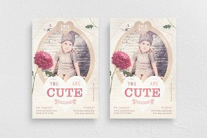 You Are Cute Flyer Template