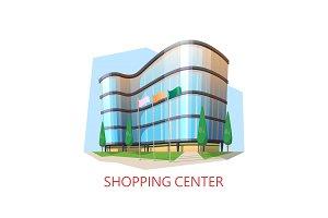 Supermarket building, shopping