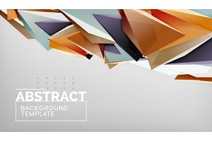 Abstract color triangles geometric