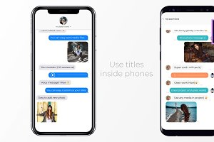 iOS and Android Messages