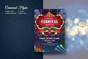Carnival   Mardi Gras Flyer V954