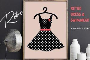 Retro Dresses & Swimwear Prints