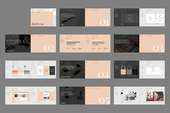 Palermo Brand Manual Brochure Templates Creative Market