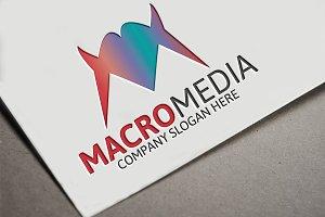 Macro Media / M Letter Logo