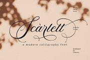 Scarlett   Elegant Calligraphy Font