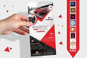 Rack Card | Rent A Car DL Flyer V-02