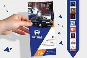 Rack Card | Car Wash DL Flyer Vol-01