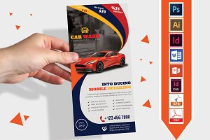 Rack Card | Car Wash DL Flyer Vol-02