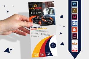 Rack Card | Car Wash DL Flyer Vol-03