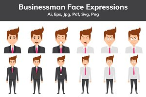 Businessman Face Expressions