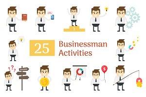 25 Businessman Activities Characters