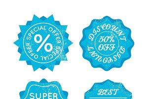 Bright blue sale retro badges