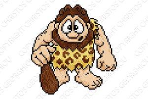 Caveman in Pixel Art 8 Bit Arcade