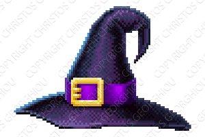 Witches Hat 8 Bit Arcade Video Game