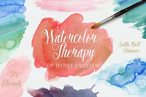 Watercolor Therapy: Textures
