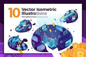 Crypto mining isometric vector set